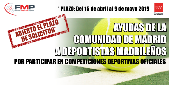 AYUDAS DE LA COMUNIDAD DE MADRID A DEPORTISTAS MADRILEÑOS POR PARTICIPAR EN COMPETICIONES DEPORTIVAS OFICIALES