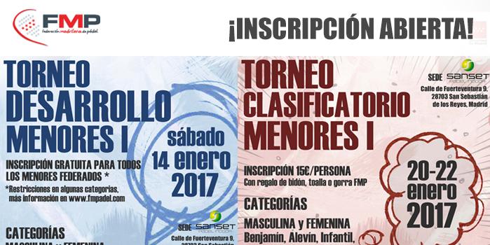 TORNEO DESARROLLO I Y CLASIFICATORIO I - Inscripción abierta