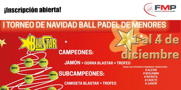 I TORNEO DE NAVIDAD BALL PÁDEL DE MENORES