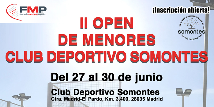 II TORNEO DE MENORES CLUB DEPORTIVO SOMONTES. CAT A
