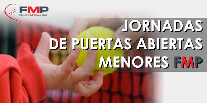 JORNADA PUERTAS ABIERTAS MENORES FMP- DOMINGO 1 DE FEBRERO 2015