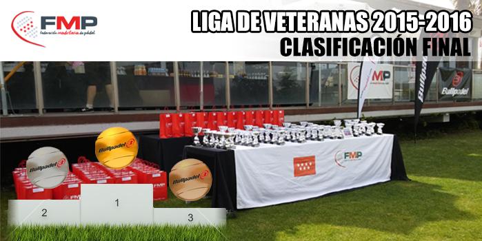 LIGA DE VETERANAS 2015/2016 - Clasificación Final