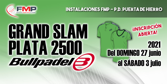GRAND SLAM PLATA 2.500 - TROFEO FMP