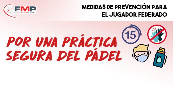MEDIDAS DE PREVENCIÓN PARA EL JUGADOR FEDERADO