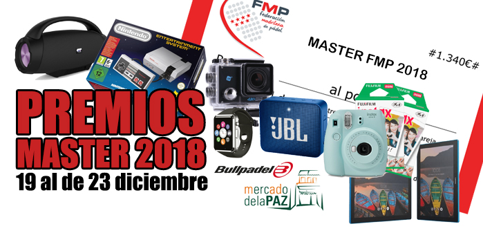 PREMIOS MASTER FMP 2018