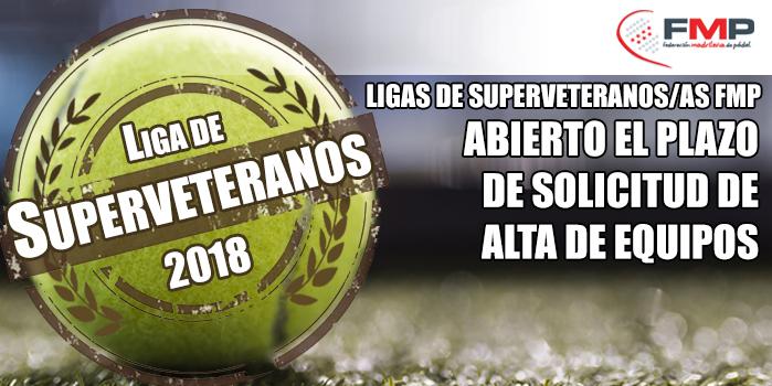ABIERTO EL PLAZO DE SOLICITUD DE ALTA DE EQUIPOS PARA LAS LIGAS DE SUPERVETERANOS/AS 2018