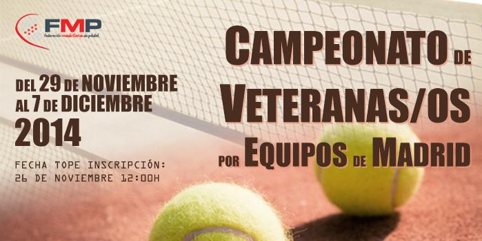 CAMPEONATO DE MADRID POR EQUIPOS DE VETERANAS/OS 2014