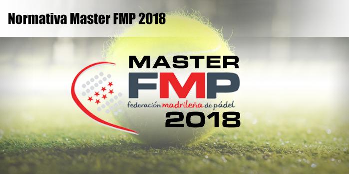 NORMATIVA MASTER FMP 2018