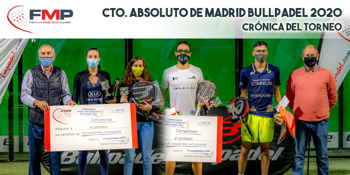 CAMPEONATO ABSOLUTO DE MADRID BULLPADEL 2020