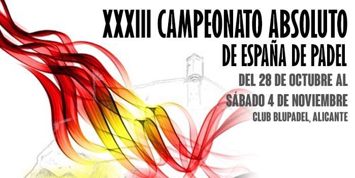 XXXIII CAMPEONATO ABSOLUTO DE ESPAÑA
