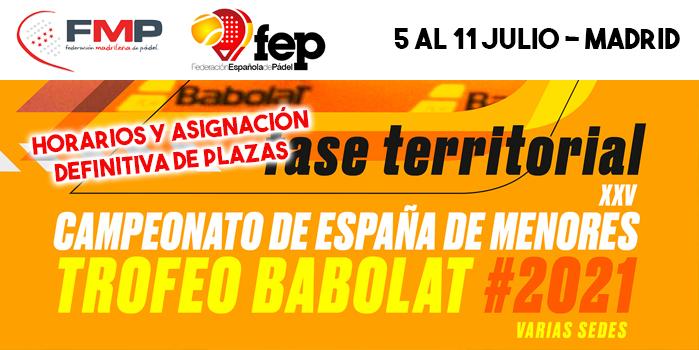 CEM 2021 - HORARIOS FASE PREVIA MADRID Y ASIGNACIÓN DEFINITIVA DE PLAZAS