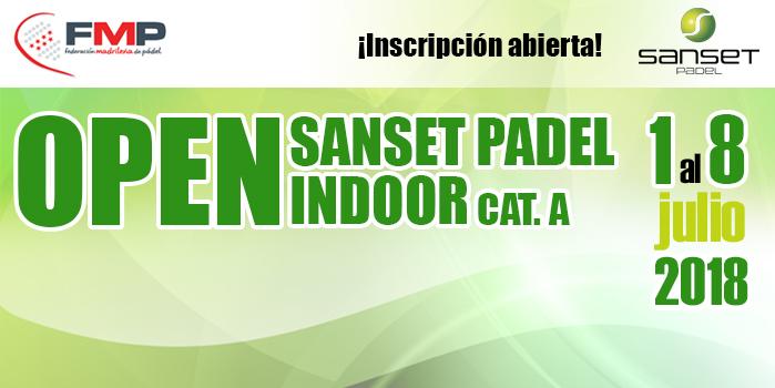 OPEN SANSET PADEL INDOOR. CAT A