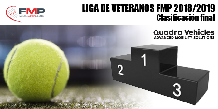 LIGA DE VETERANOS FMP QUADRO VEHICLES 2018/2019 - Clasificación Final