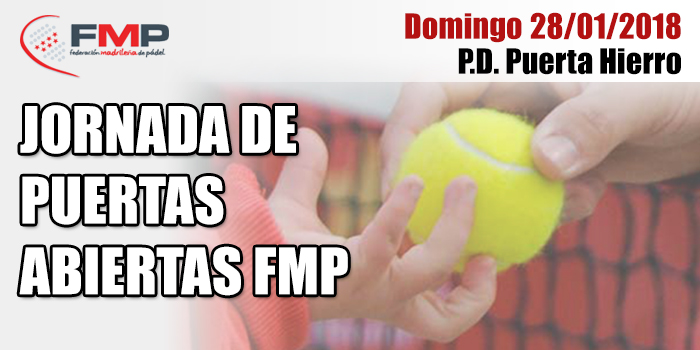 JORNADA DE PUERTAS ABIERTAS FMP - 28 ENERO 2018