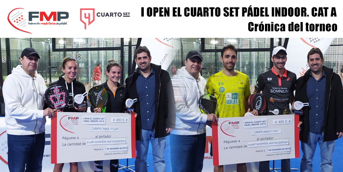 I OPEN EL CUARTO SET PÁDEL INDOOR. CAT A