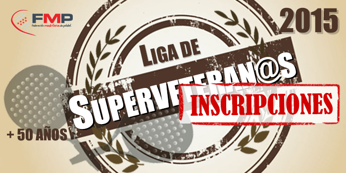 ABIERTA LA INSCRIPCION PARA LA LIGA DE SUPERVETERANA/OS