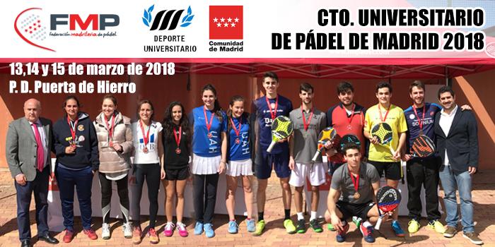 CAMPEONATO DE MADRID UNIVERSITARIO 2018