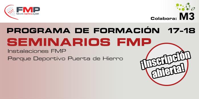 PROGRAMA DE FORMACIÓN 17-18: SEMINARIOS FMP
