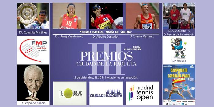 La FMP recibe el premio 'Ciudad de la Raqueta' a la mejor institución deportiva