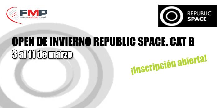 OPEN DE INVIERNO REPUBLIC SPACE. CAT B