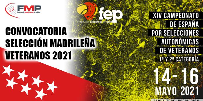 CAMPEONATO SSAA VETERANOS 2021 - CONVOCATORIA SELECCIÓN MADRILEÑA