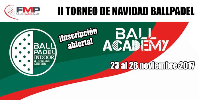 II TORNEO DE NAVIDAD BALLPADEL.