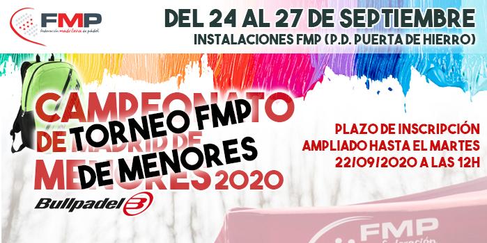 CAMBIO DE DENOMINACIÓN: CTO. MENORES DE MADRID - TORNEO DE MENORES FMP
