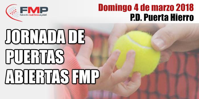 JORNADA DE PUERTAS ABIERTAS FMP - 4 MARZO 2018