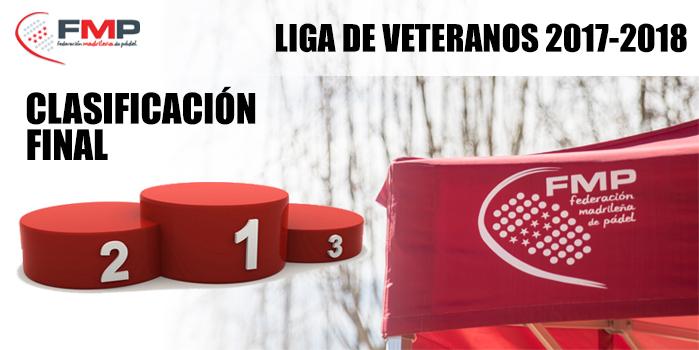 LIGA DE VETERANOS 2017/2018 - Clasificación Final